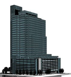 A sketchup of Portside from a south-western elevation. Under Construction, Willis Tower, Cape Town, Places To Visit, Commercial, Building, Buildings, Construction