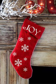 JOY- Christmas **STENCIL** Vertical  or Horizontal - 10 Sizes available- Create Christmas Stockings, Christmas Pillows and Christmas Signs!
