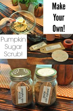 Make Your Own Pumpkin Spice Scrub.  Great craft night idea!