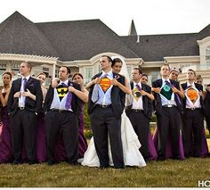 groomsmen and favorite Tee Shirt underneath .. then at dance they can get comfy and dance in their tee's
