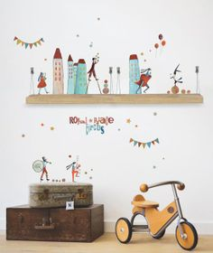 Musician Wall Stickers, by Hoopla Room. Love the stickers and the way they decorated the rest <3
