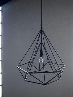 ワイヤーペンダントランプ照明ライト ダイヤモンドランプ