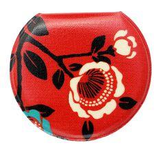 Seisuke88 Compact Mirror MORIHATA Kimono Fabric, Vintage Kimono, Japanese Design, Compact Mirror, Japanese Artists, Camellia, Canvas Fabric, Red, Prints