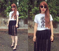 Ivy Xu - American Apparel Lace Skirt, Aldo Heels - The fashion nerd