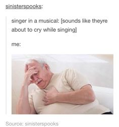 Me when Javier Muñoz'a voice cracks when he sings.