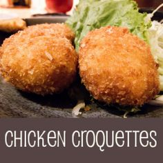 Quick Chicken/Turkey Croquettes using leftovers