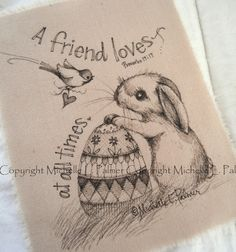MICHELLE PALMER ILLUSTRATIONS   Bunnies promising Spring~