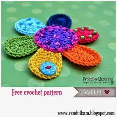 flower applique free pattern