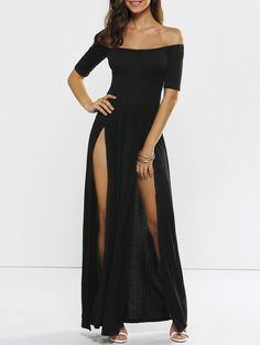 SHARE & Get it FREE | Slit Off The Shoulder Evening DressFor Fashion Lovers only:80,000+ Items • New Arrivals Daily • Affordable Casual to Chic for Every Occasion Join Sammydress: Get YOUR $50 NOW!