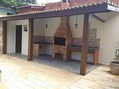 Imagem relacionada Patio Interior, Barbacoa, Home Theater, Ideas Para, Indoor Outdoor, Deck, Backyard, Outdoor Structures, House Design