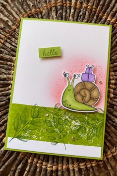 The snails in the Stampin' Up! Snailed It stamp set are just super cute! I've combined the snail with stamps from the Forever Fern stamp set. A really cute card for any ocassion. Snails, Cute Cards, Fern, Stampin Up, Super Cute, Handmade, Hand Made, Pretty Cards, Snail