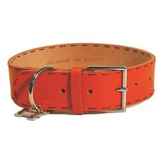 Understated chic never goes out of fashion, and this simple, wide, bright orange leather collar from Wouapy is a real statement piece that's guaranteed to turn heads from season to season. Featuring a practical square metal buckle, this collar is finished with stand-out hand-stitching in creamy white, providing a fab colour contrast. This collar also comes with a pretty silver bone-shaped pendant charm engraved with the Wouapy logo – why not add a final flourish to the piece by personalising…