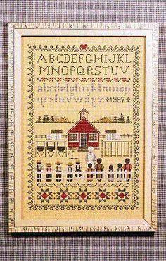 Schoolhouse Sampler - Cross Stitch Pattern