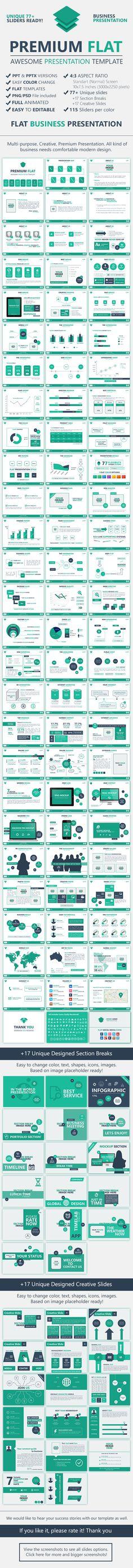 Premium FLAT-Multipurpose, Creative Presentation - Business Powerpoint Templates