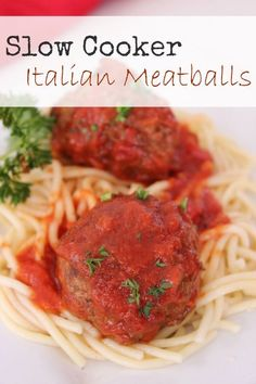 These Slow Cooker Italian Meatballs are full of flavor, very filling, and the recipe makes plenty so no one has to return to the kitchen looking for something else to eat.