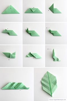 Origami leaves; by Dekotopia