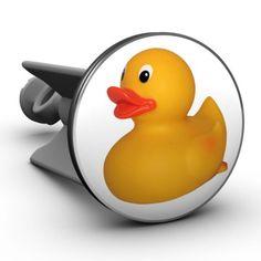 Plopp Waschbeckenstöpsel Quietsche-Entchen. ☺  #rubberduck - #bathduck - #Qietscheentchen - #Badeente