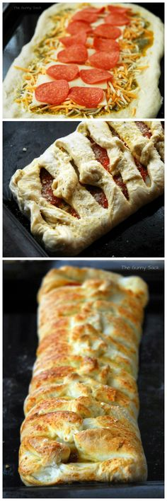 Pepperoni Stromboli has delicious cheese, pepperoni and spices wrapped in dough!