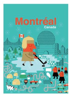 Montreal, Canada poster by Maxime Francourt