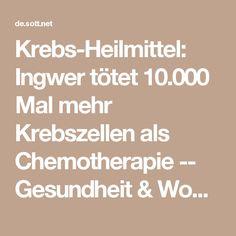 Krebs-Heilmittel: Ingwer tötet 10.000 Mal mehr Krebszellen als Chemotherapie -- Gesundheit & Wohlbefinden -- Sott.net