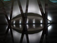 Vista nocturna del Museo de las Ciencias Príncipe Felipe. Valencia
