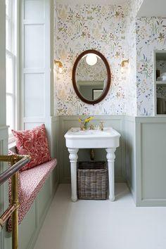 bathroom decor ideas, bathroom tiles, modern farmhouse bathroom - Lilly Green Home Bad Inspiration, Bathroom Inspiration, Modern Farmhouse Bathroom, Country Bathrooms, Beautiful Bathrooms, Small Bathroom, Bathroom Ideas, Bathroom Sinks, Bathroom Green