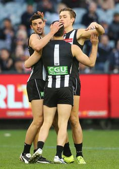 Darcy Moore Photos Photos: AFL Rd 23 - Collingwood v Essendon White Boys, Black N White, Collingwood Football Club, Melbourne Stars, Netball, Melbourne Australia, Magpie, Wallpaper Backgrounds, Rugby