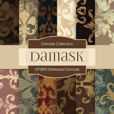 Distressed Damask Digital Paper DP2892