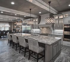 I like everything except the light fixtures and that everything is grey. Other than that I love this kitchen!
