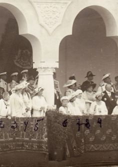 Romanovs with the Rumanian royal family - 1914.