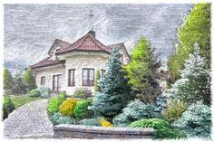 Ogród - szkic (autor: Kaliope56)