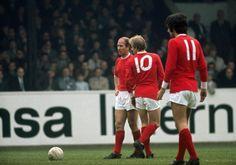 Bobby Charlton, Denis Law, George Best.