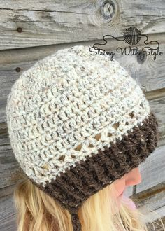 430f984830041 Winter Hat With Messy Bun Option - free crochet pattern from String With  Style Mens Beanie
