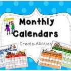 FREE!! This set has an ADORABLE calendar for every month of the year. There are boxes where the students or teacher can write the date in so they c...