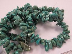 Turquoise Beads Green Turquoise Chinese Val Verde by FLcowgirls on Etsy #beadsforsale