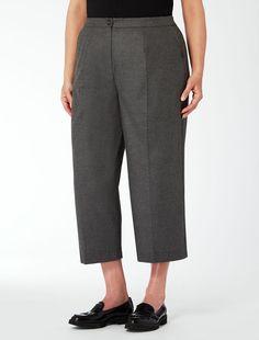 Pantalone cropped in flanella