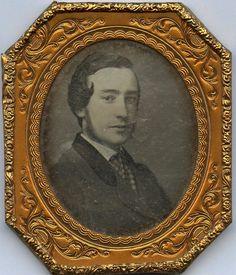 1850s 1 6 PL Union Case Daguerreotype Striking Young Man Head Shoulders | eBay