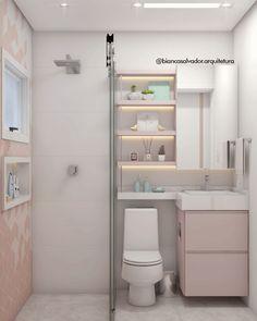 Small Bathroom Layout, New Bathroom Designs, Small Bathroom Organization, Bathroom Design Luxury, New Home Designs, Simple Bathroom, Modern Small House Design, Minimalist House Design, Cute Room Decor