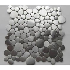 River Rock Stainless Steel Wall Mosaic Tile or Backsplash Mosaic Tile  - Kitchen?