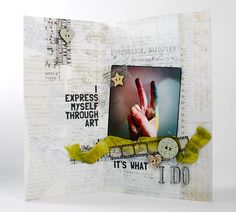Hi everyone, it's Shari here with my August Art Journaling project. This one uses a lot of collage layers… book …
