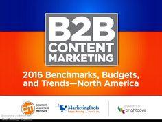 #B2BContentMarketiing Benchmarks Budget Trends 2016, #B2BContentMarketiingTrends2016  #Business