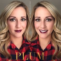 Plum Lipsense, Eye Makeup, Hair Makeup, Color Mixing, Lip Sense, Skin Care, Beauty Ideas, Join, Lipstick
