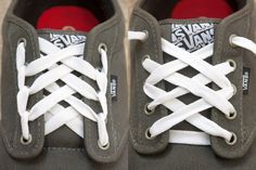 Don't settle for boring shoes. Try these cool designs for fun ways to lace up a pair of vans shoes.