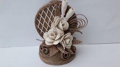 Vaza din sfoara si trandafiri din sfoara - Vase of string and roses of s...