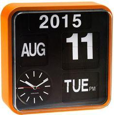 Karlsson Mini Flip Wall Clock - Orange