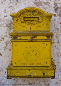Letter Box From English Colonial Times, Asmara, Eritrea Antique Mailbox, Old Mailbox, Vintage Mailbox, Horn Of Africa, You've Got Mail, Going Postal, Post Box, Famous Art, Lost Art