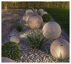 begrenzt Blumenbeet, Formate MAX, FBX, Architekturkugeln Buchsbaum zerkleinert - List of the most beautiful garden decor Backyard Garden Design, Garden Art, Backyard Patio, Garden Pods, Rock Garden Design, Garden Balls, Diy Garden, Modern Landscape Design, Modern Design