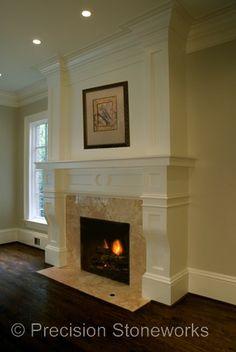 Granite Fireplaces http://precisionstoneworks.com/portfolio/other-granite/fireplaces