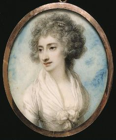 Unknown Lady, miniature by Richard Cosway. Watercolor on ivory. (1790)