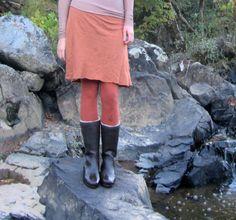 Short Fleece Skirted Legging hemp/organic by gaiaconceptions, $115.00